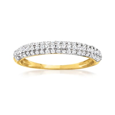 .50 ct. t.w. Pave Diamond Ring in 14kt Yellow Gold