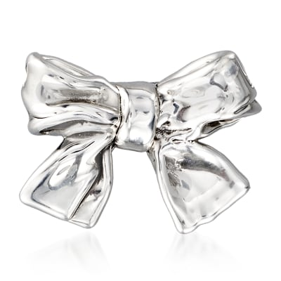 Sterling Silver Bow Pin/Pendant