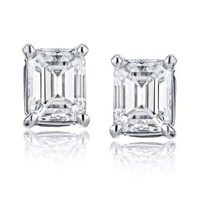 .70 ct. t.w. Diamond Stud Earrings in 14kt White Gold