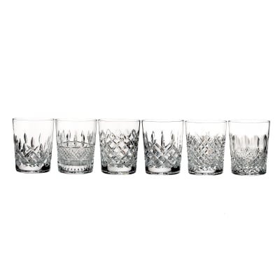 "Waterford Crystal ""Connoisseur"" Set of 6 Heritage Double Old-Fashioned Glasses"