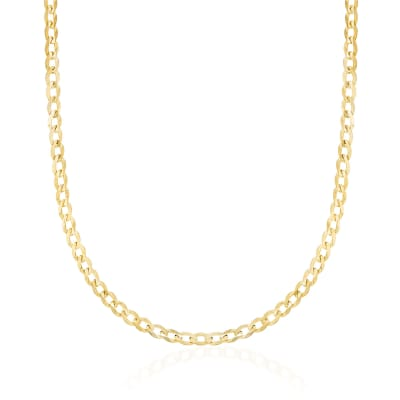 3.5mm 14kt Yellow Gold Curb-Link Chain Necklace