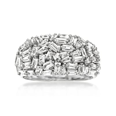 3.50 ct. t.w. CZ Ring in Sterling Silver