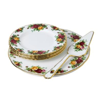 "Royal Albert ""Old Country Roses"" 6-pc. Cake Set"