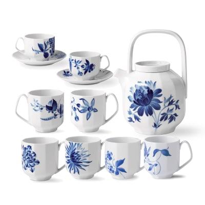 """Royal Copenhagen """"Blomst"""" Porcelain Drinkware"""