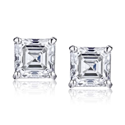 .96 ct. t.w. Certified Diamond Stud Earrings in Platinum