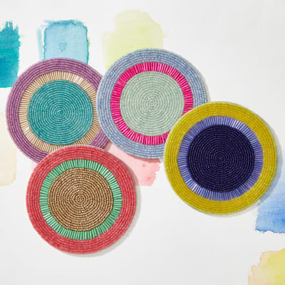 Joanna Buchanan Set of 4 Bright Stripe Coasters