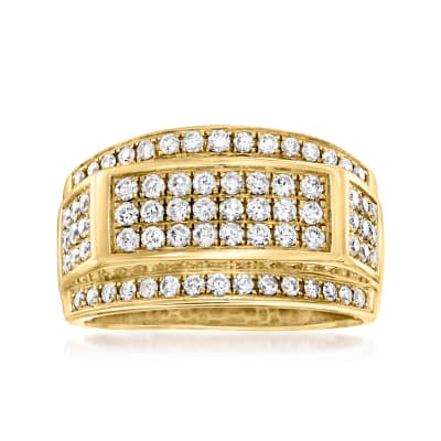 C. 1980 Vintage 1.25 ct. t.w. Diamond Fashion Ring in 10kt Yellow Gold