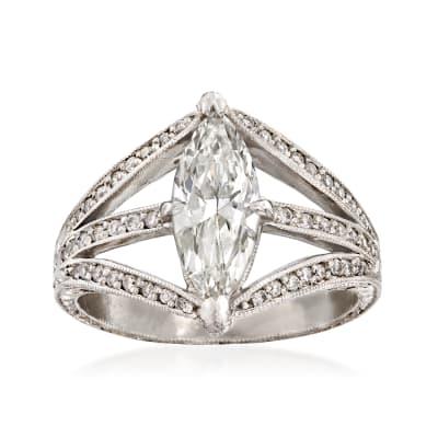C. 2000 Vintage 1.50 ct. t.w. Diamond Ring in Platinum