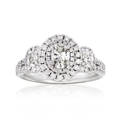 C. 1990 Vintage 2.00 ct. t.w. Diamond Ring in Platinum