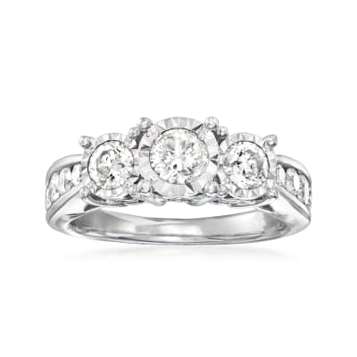C. 2015 Vintage 1.50 ct. t.w. Diamond Ring in 14kt White Gold