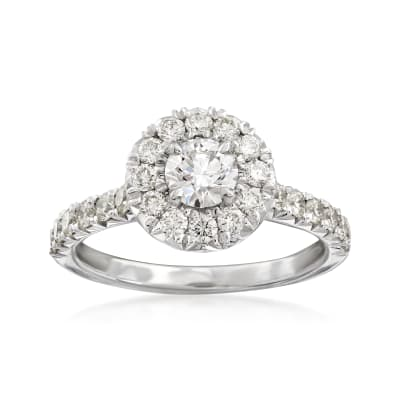 Henri Daussi 1.16 ct. t.w. Diamond Engagement Ring in 18kt White Gold