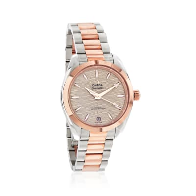 Omega Seamaster Aqua Terra Women's Automatic 34mm Stainless Steel and 18kt Rose Gold Watch