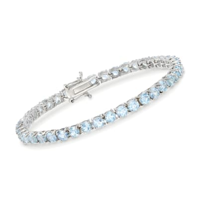 9.00 ct. t.w. Sky Blue Topaz Tennis Bracelet in Sterling Silver