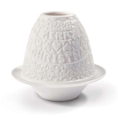 "Lladro ""Christmas"" Porcelain Lithophane Votive Light"