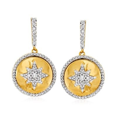 .50 ct. t.w. Diamond Star Drop Earring in 14kt Yellow Gold