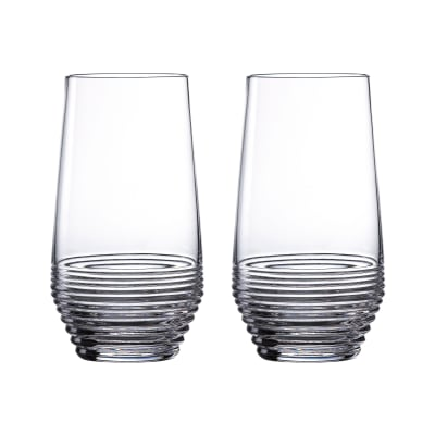 "Waterford Crystal ""Mixology Circon"" Set of 2 Highball Glasses"