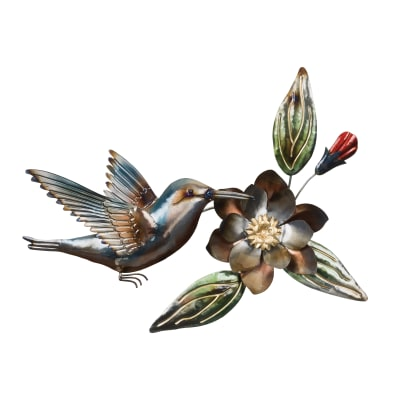 Regal Metallic Hummingbird Wall Decor