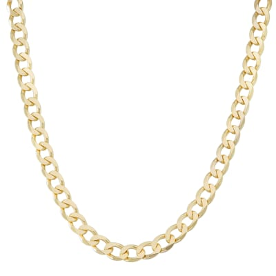Italian Men's 18kt Gold Over Sterling 8.8mm Curb-Link Chain