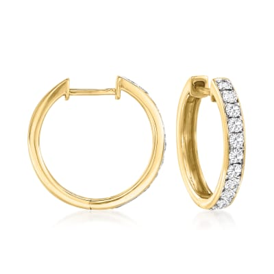 .50 ct. t.w. Diamond Hoop Earrings in 14kt Yellow Gold