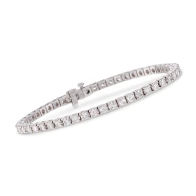 5.00 ct. t.w. Square Diamond Tennis Bracelet in 14kt White Gold