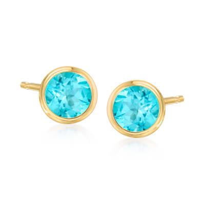 1.10 ct. t.w. Apatite Stud Earrings in 14kt Yellow Gold