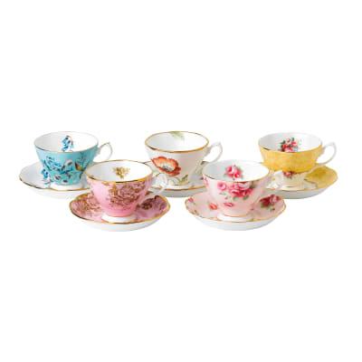 "Royal Albert ""100 Years: 1950-1990"" 10-pc. Teacup and Saucer Set"
