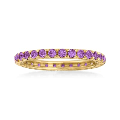 .80 ct. t.w. Amethyst Eternity Band in 14kt Yellow Gold