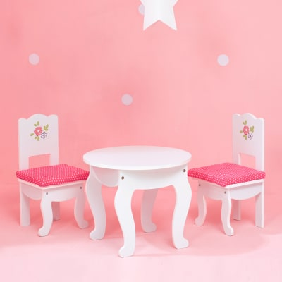 """Child's """"Little Princess"""" Doll Table and 2 Chair Set"""