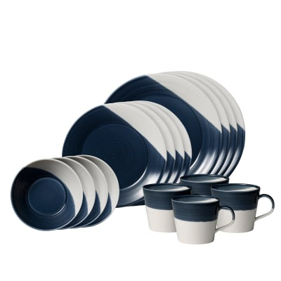 "Royal Doulton ""Bowls of Plenty"" 16-pc. Dark Blue Dinnerware Set"