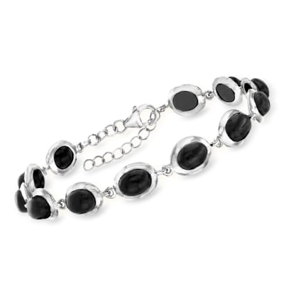 Black Onyx Bracelet in Sterling Silver
