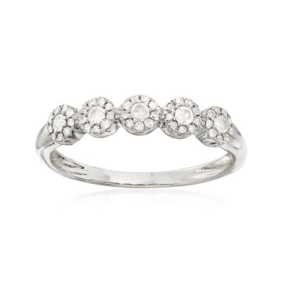 .25 ct. t.w. Diamond Circle Ring in 14kt White Gold