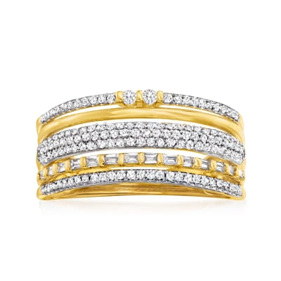 .50 ct. t.w. Diamond Open-Space Multi-Row Ring in 14kt Yellow Gold