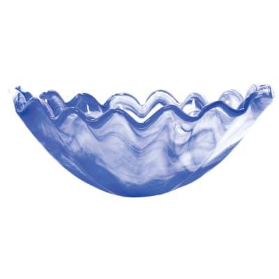 "Vietri ""Onda"" Cobalt Glass Centerpiece from Italy"