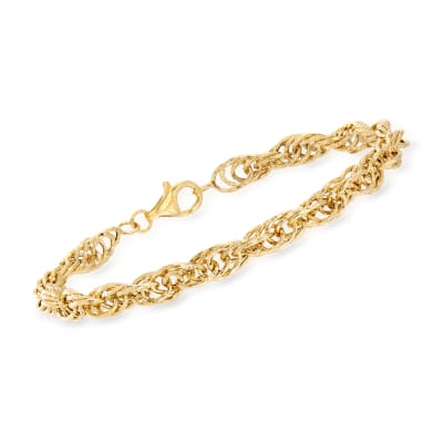 14kt Yellow Gold Multi-Link Rope Bracelet