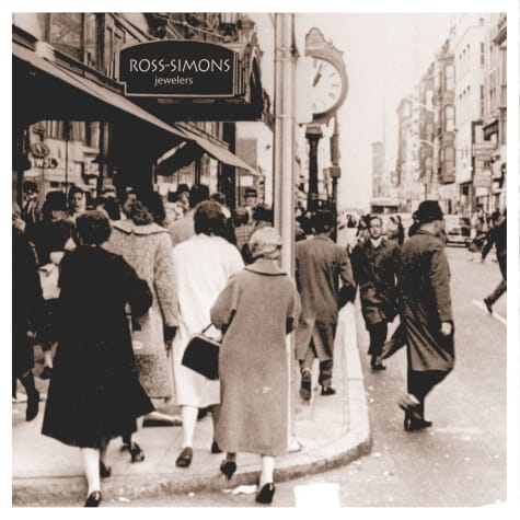 Why Ross-Simons. Vintage image of people on city street.