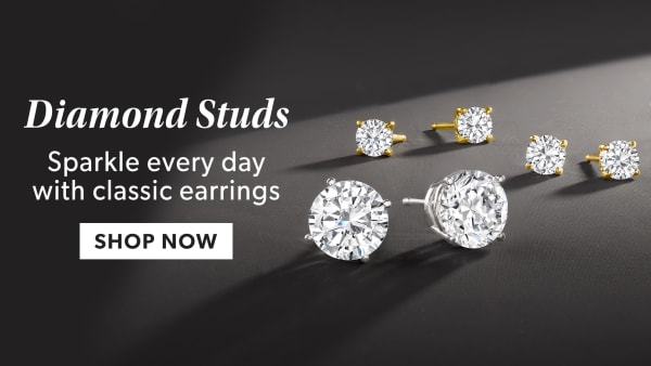 Diamond Studs. Sparkle Every Day With Classic Earrings. Shop Now