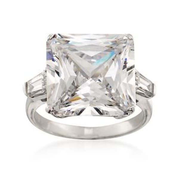 12.00 ct. t.w. CZ Ring in Sterling Silver #816070