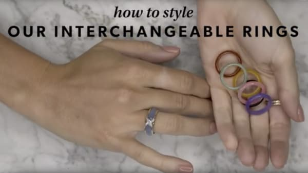 Interchangeable rings YouTube video. Model showing how to style.