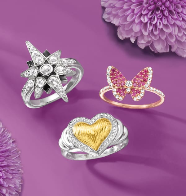 Special Symbols That Speak To Every Mom's Heart. Image Featuring 3 Different Rings