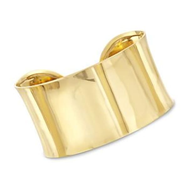 14kt Yellow Gold Polished Statement Cuff Bracelet. #788062