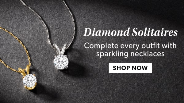 Diamond Solitaires. Sparkling Necklaces In A Range Of Sizes. Shop Now