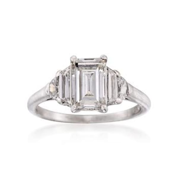 C. 1950 Vintage 1.40 ct. t.w. Diamond Ring in Platinum. Size 4.75 #816511