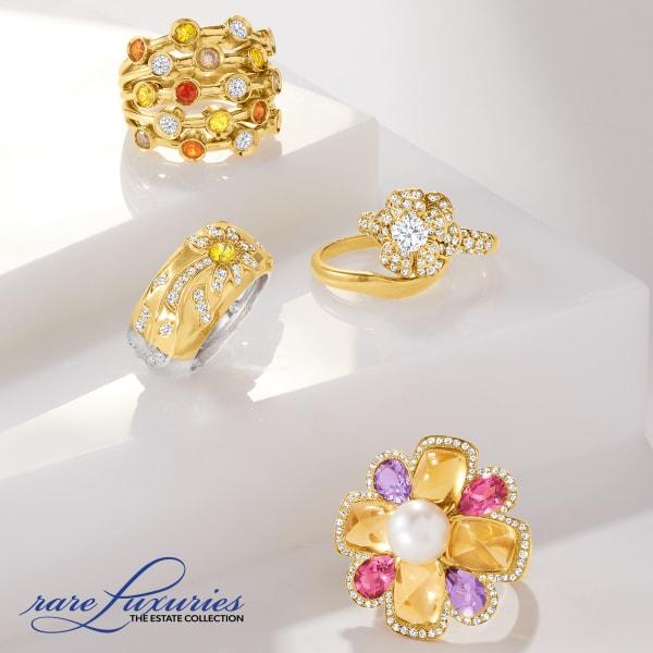 Rare treasures you'll cherish. Shop Estate Jewelry. Image Featuring