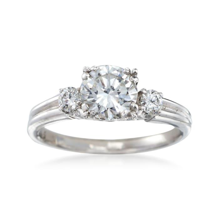 C. 2000 Vintage .90 ct. t.w. Diamond Ring in Platinum
