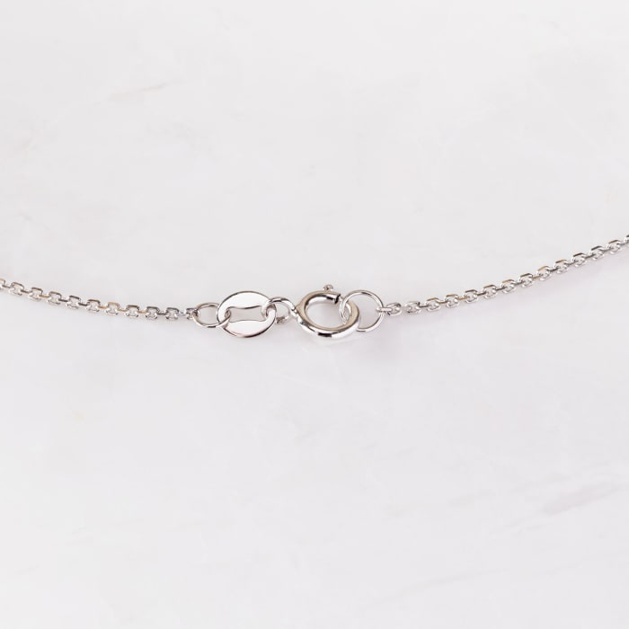 .33 ct. t.w. Graduated Bezel-Set Diamond Station Necklace in 14kt White Gold