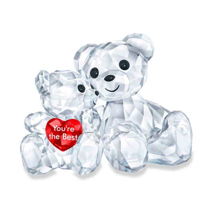 """Swarovski Crystal """"You'Re the Best"""" Kris Bear Parent and Child Figurine"""