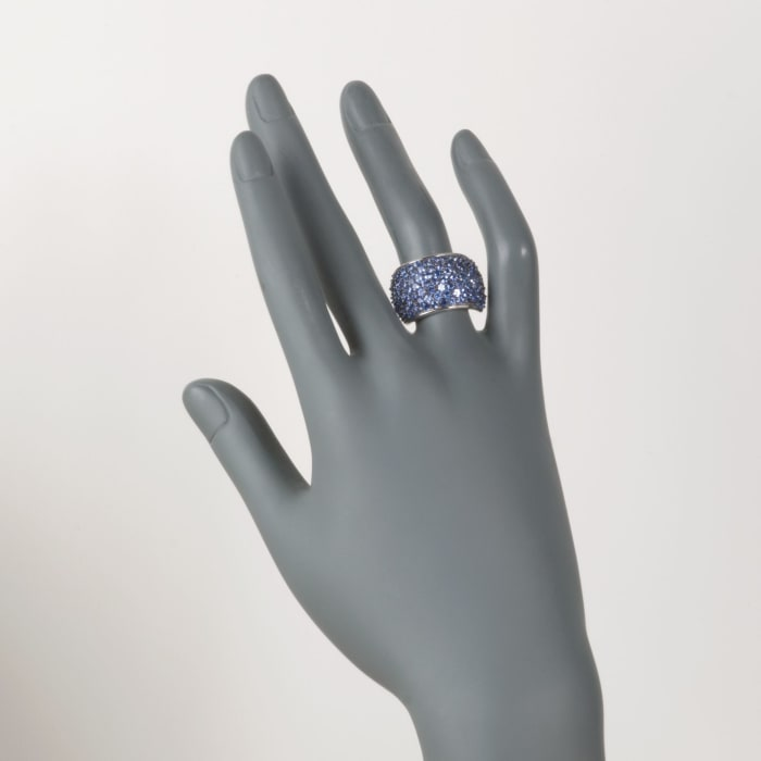 4.30 ct. t.w. Tanzanite Dome Ring in Sterling Silver