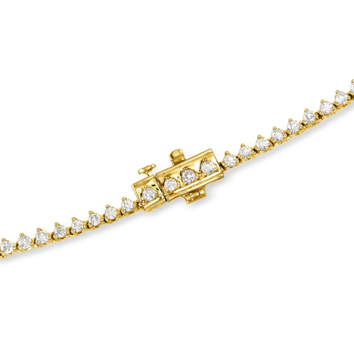 10.00 ct. t.w. Diamond Tennis Necklace in 14kt Yellow Gold