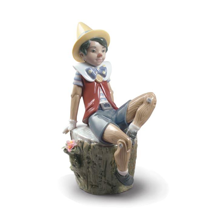 "Lladro ""Pinocchio"" Porcelain Figurine"