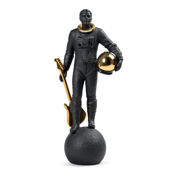 "Lladro ""Walking on the Moon"" Black Porcelain Figurine"